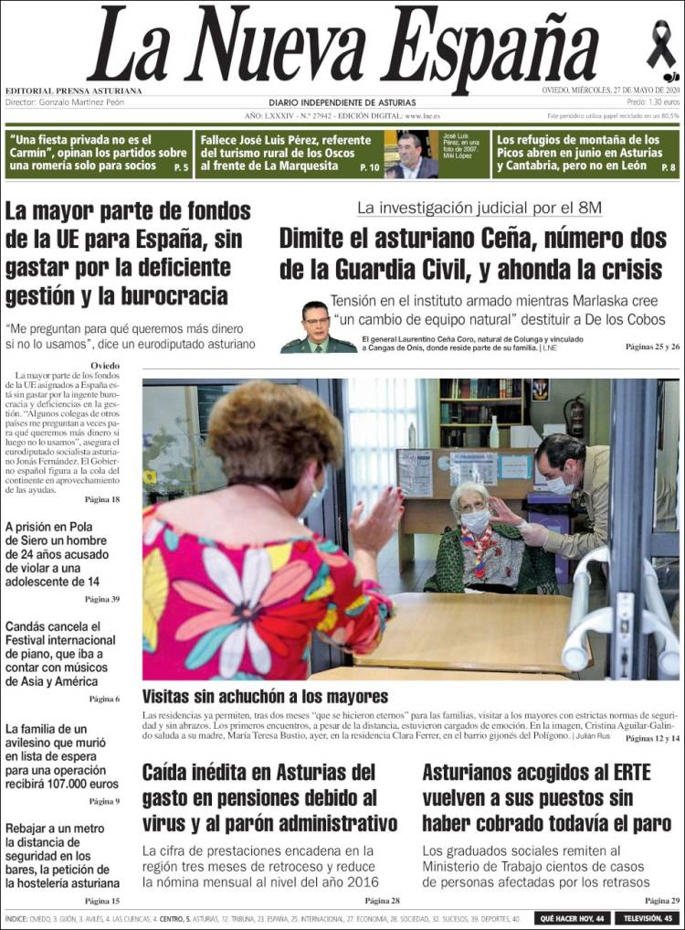 Portada La Nueva España