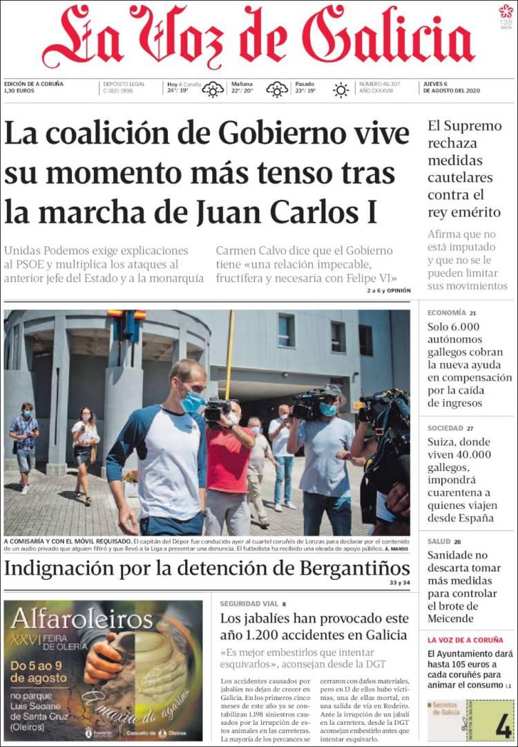 Portada La Voz de Galicia