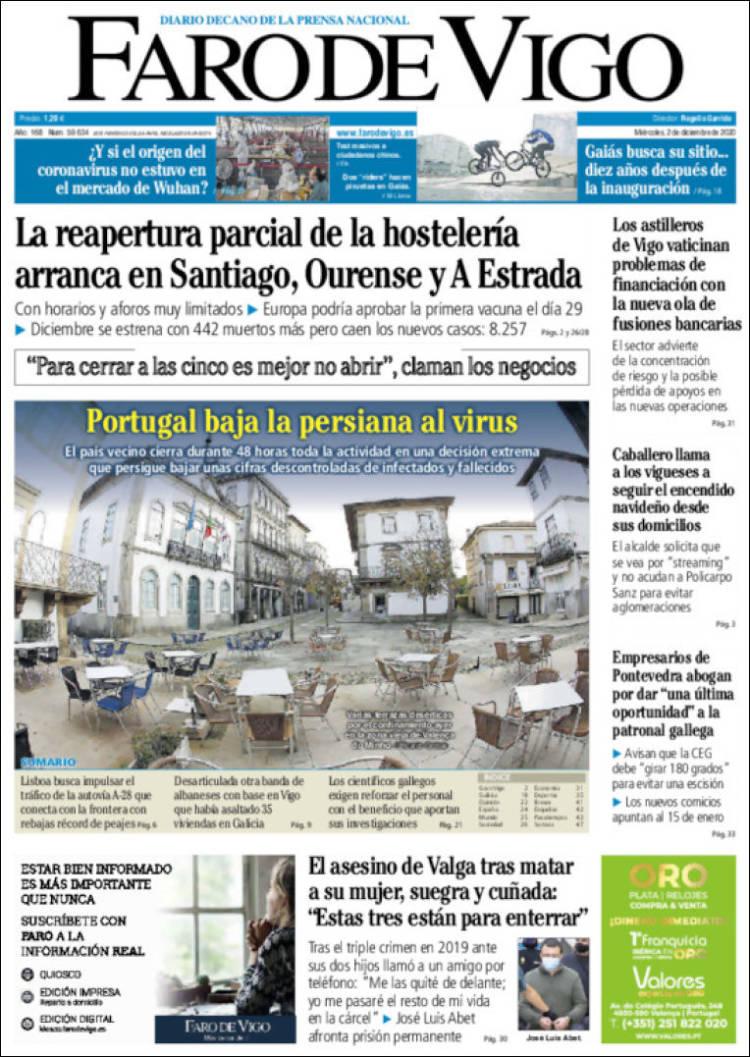 Portada Faro de Vigo
