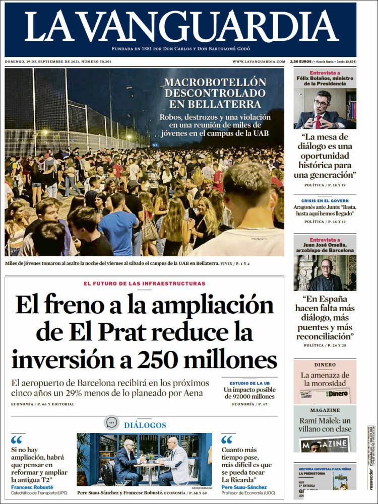 Portada La Vanguardia